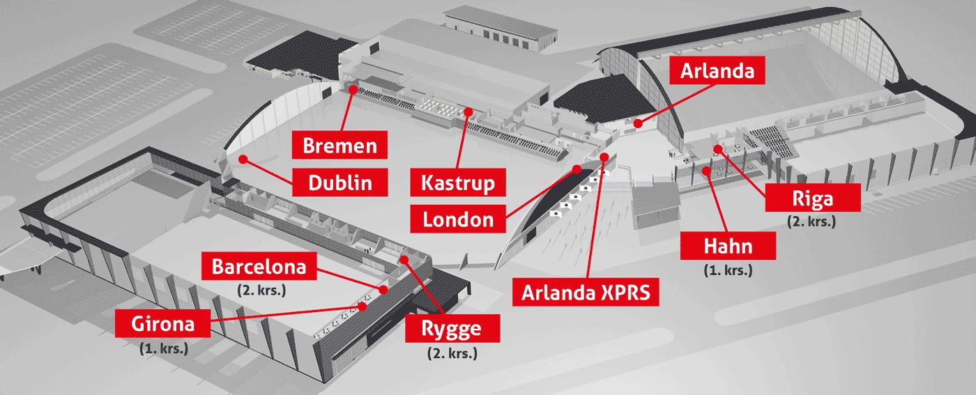 Tampereen Messu- ja Urheilukeskuksen ravintolat kartalla